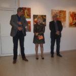 Marianne Blanc et les représentant de la ville de gardanne ont tenu un petit discours