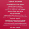 mentions du magazine Avenue des arts