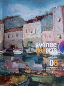 Couverture du magazine Avenue des arts, où sont publiés mes tableaux et sculptures