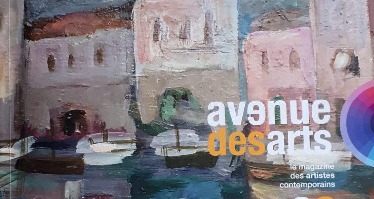 Couverture du magazine Avenue des arts, huitième numéro