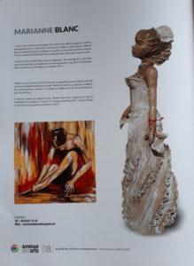 Article publié dans le magazine Avenue des arts, à propos de mes tableaux et sculptures