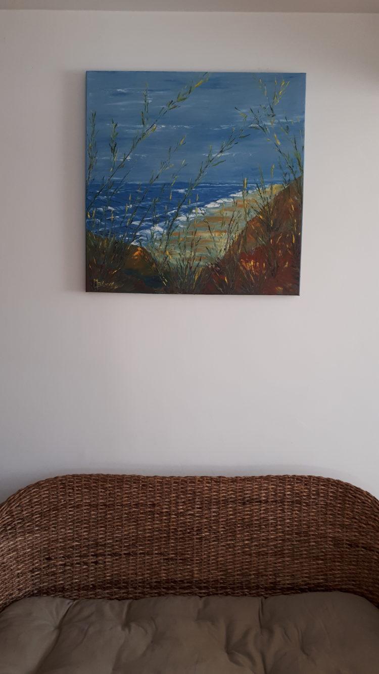 Un autre jour à la mer, mis en situation dans mon salon