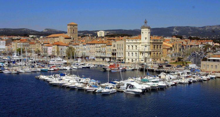 Photographie du port de la ville de la ciotat